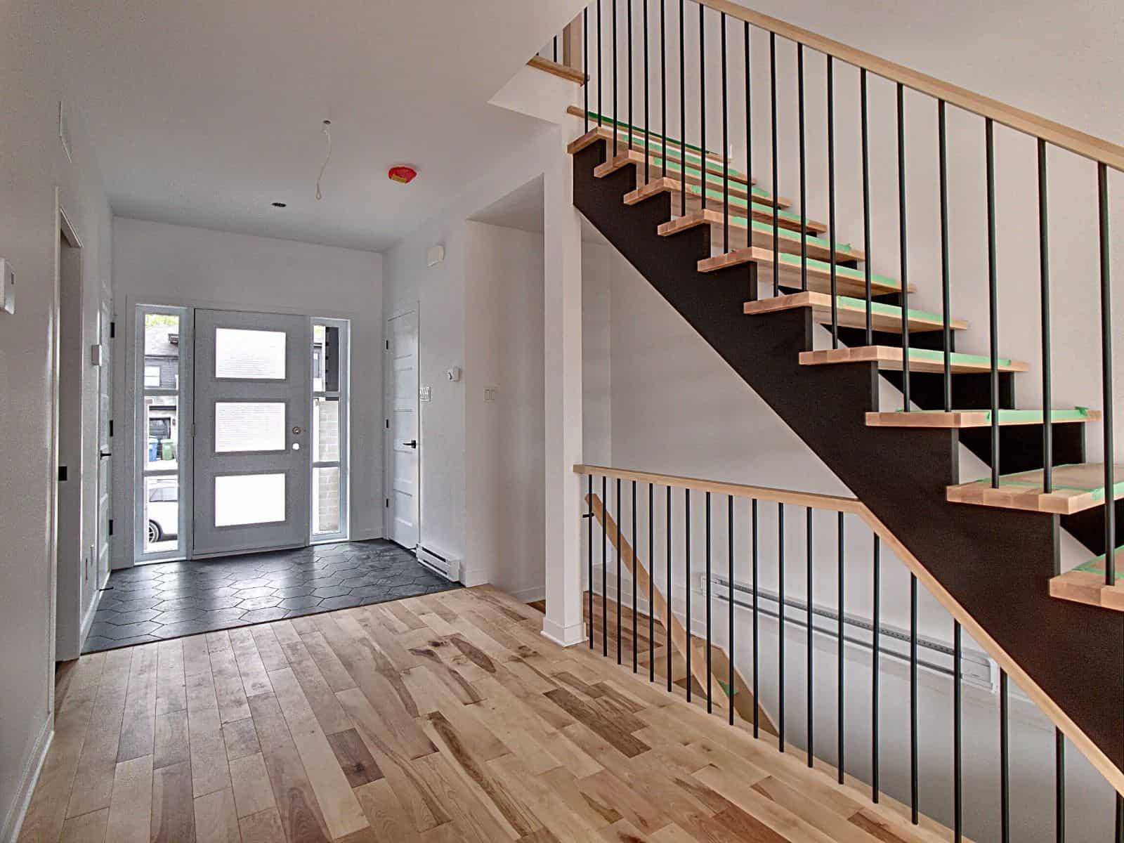 Escalier ouvert (option)